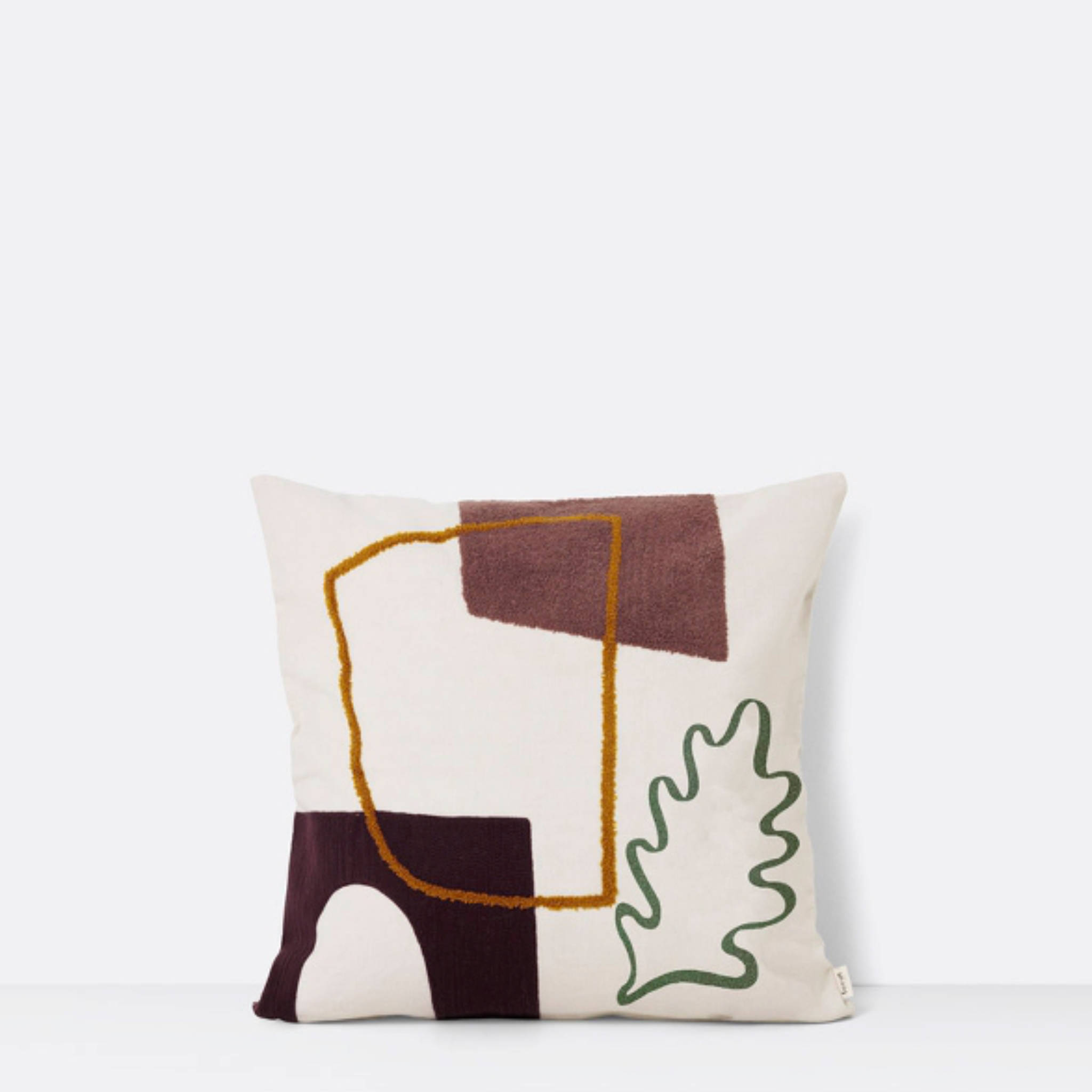 Ferm Living Mirage Cushion- Leaf