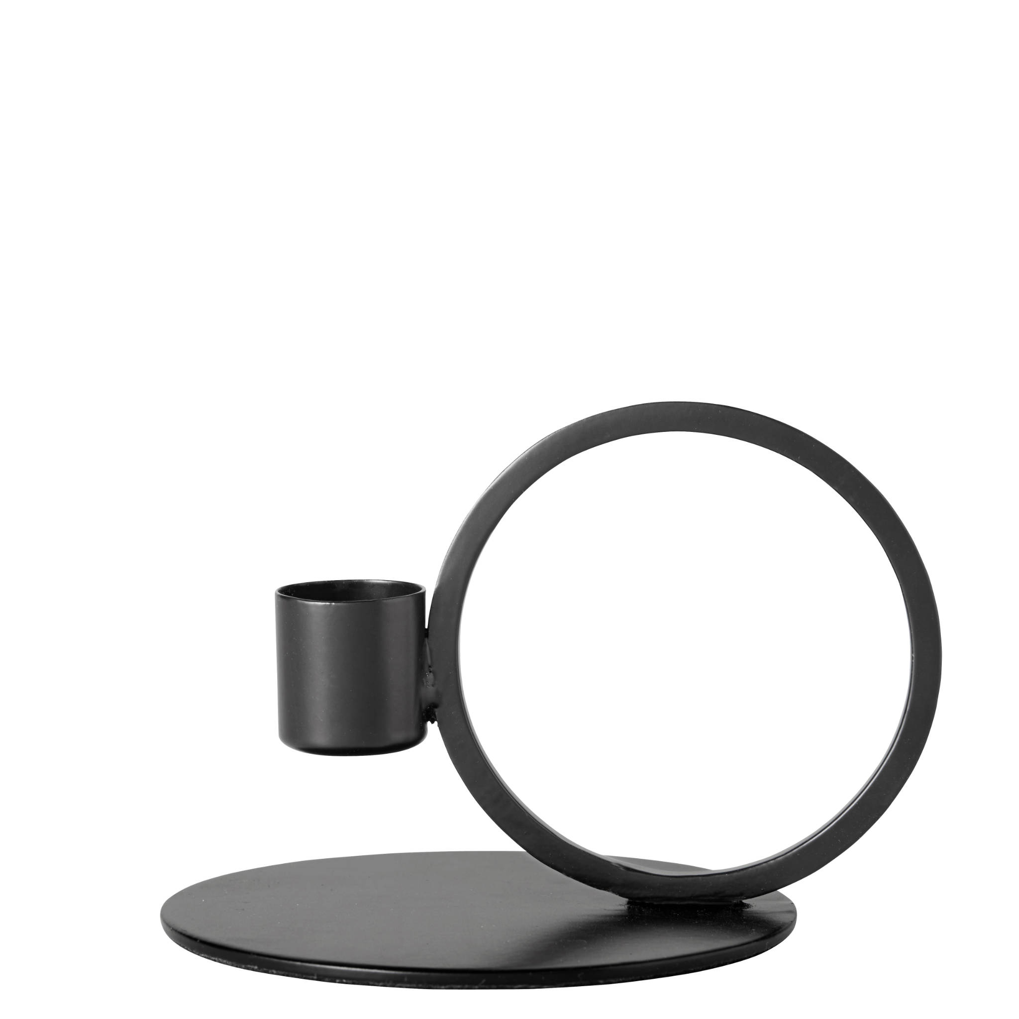 Nordal Iron Candle Holder- Black