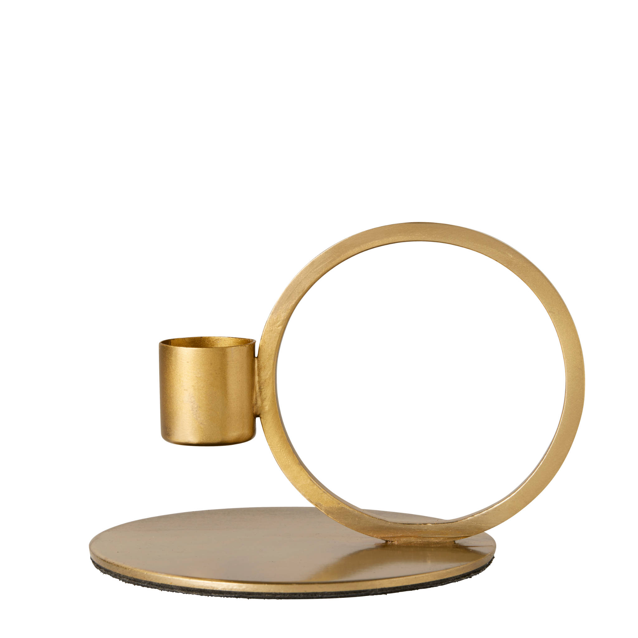 Nordal Iron Candle Holder- Brass