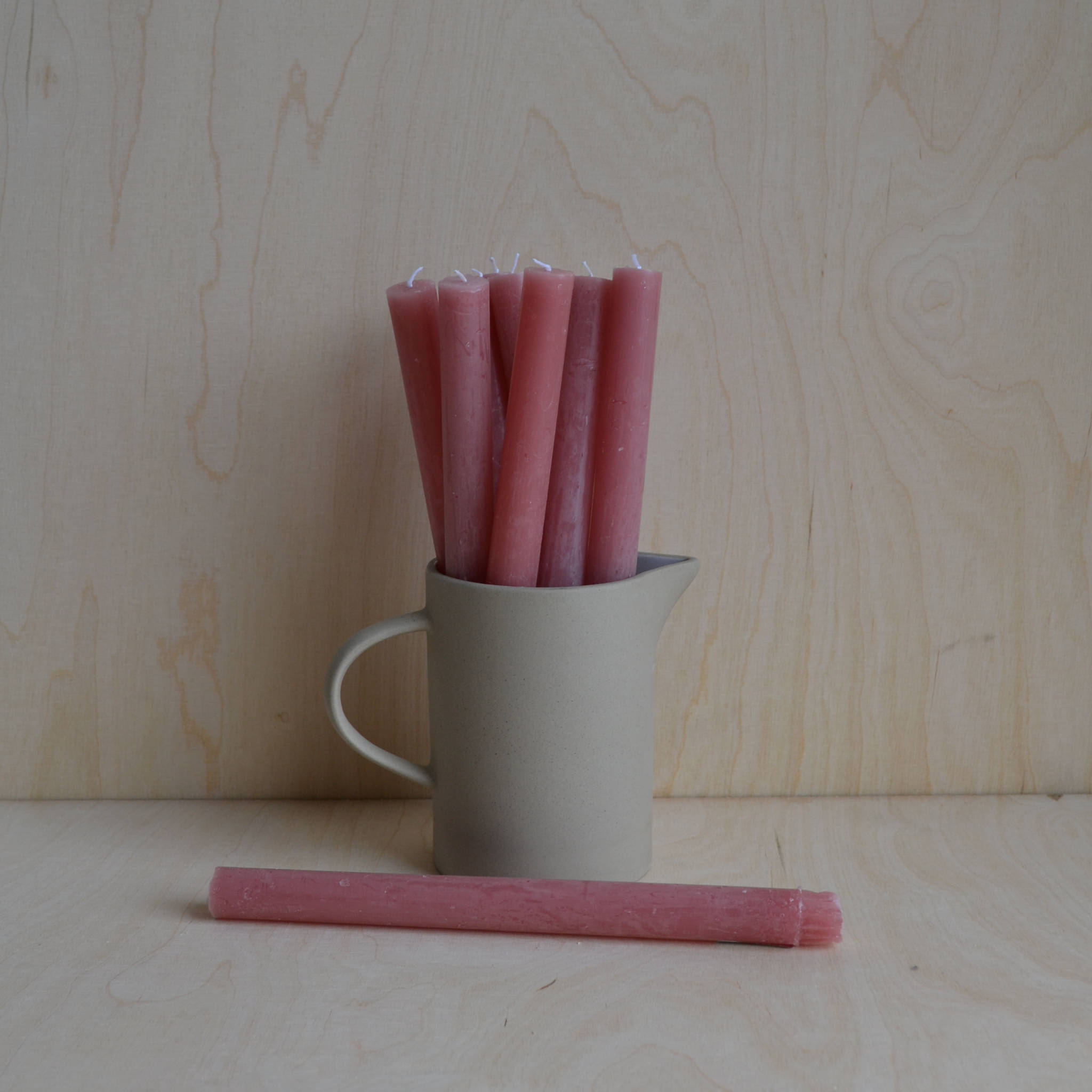 Dinner Candle- Dusky Pink