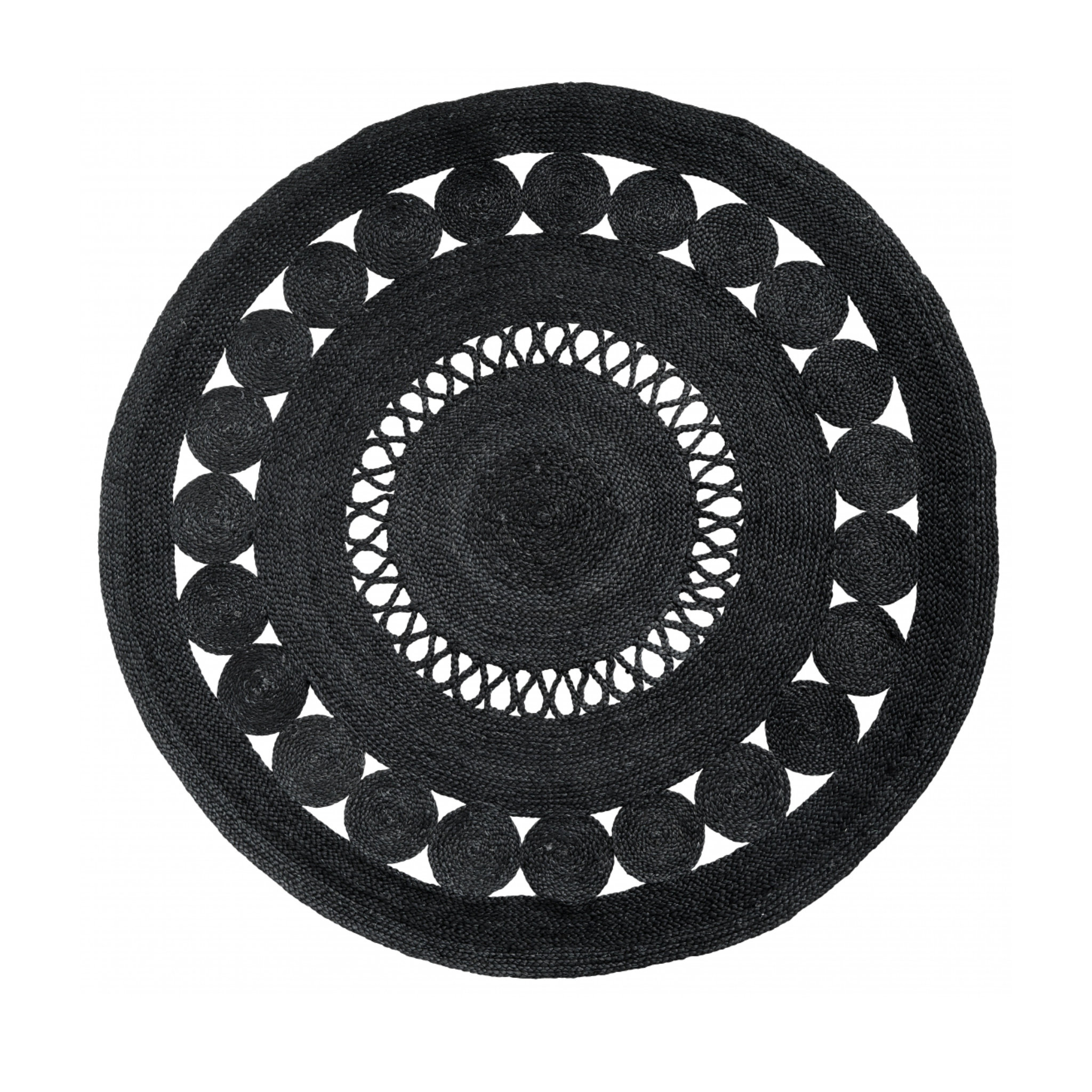 Nordal Ball Round Rug- Black