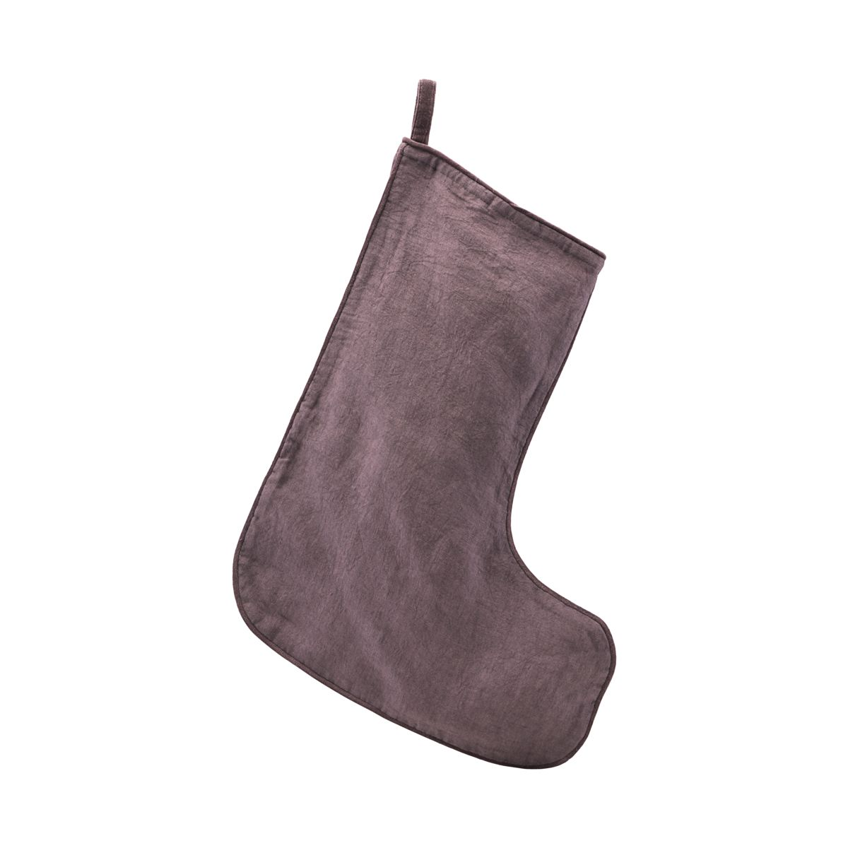 Christmas Stocking- Aubergine