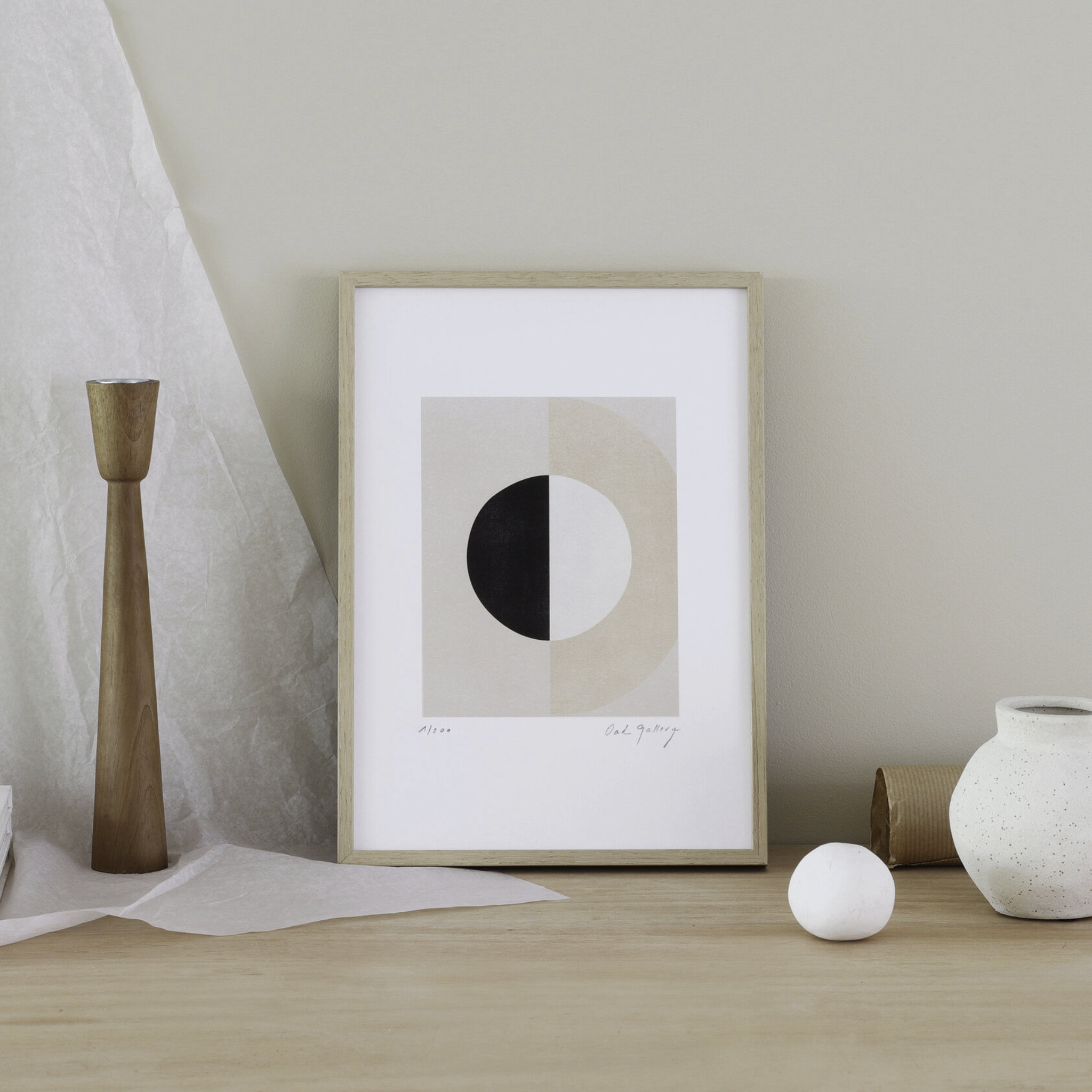 Oak Gallery Half Moon Print