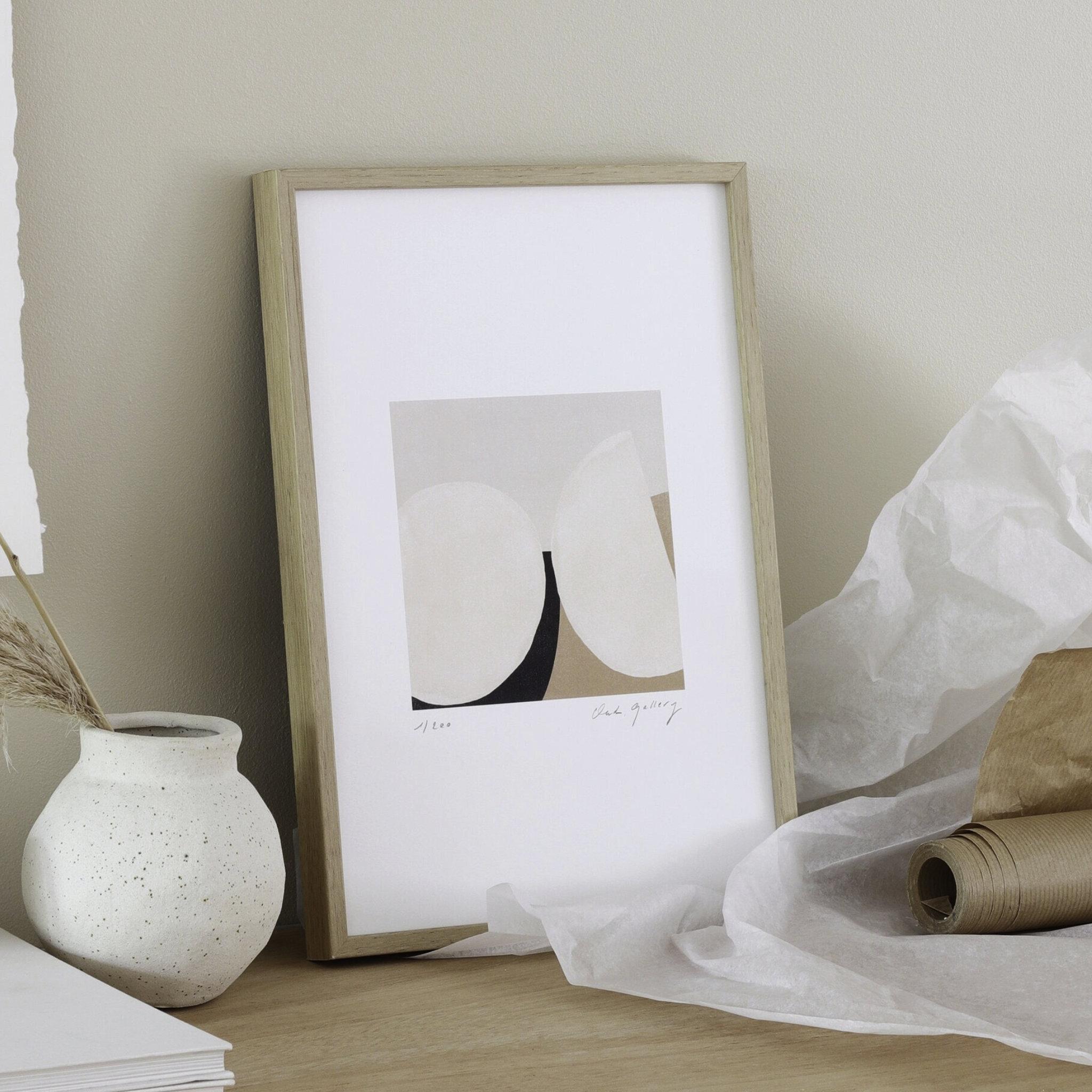 Oak Gallery Stones Print
