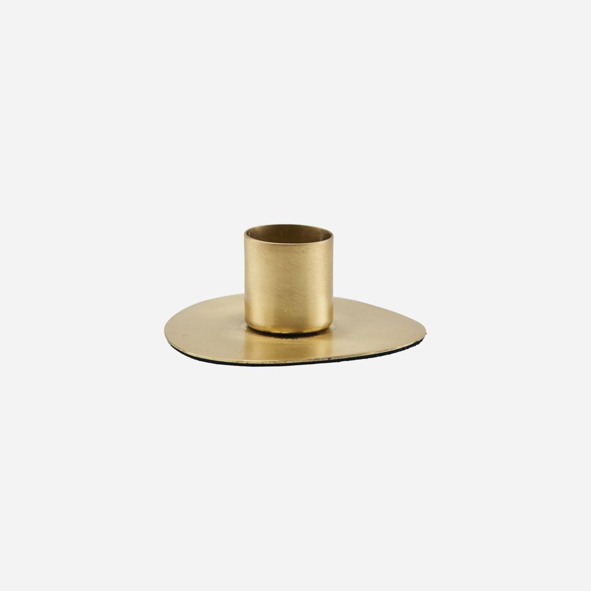 House Doctor Circle Brass Candleholder