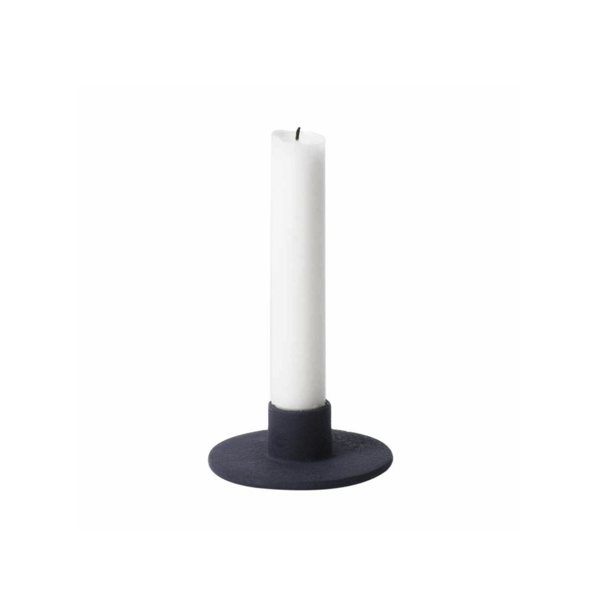 Ferm Living Cast Iron Candle Holder- Dark Blue
