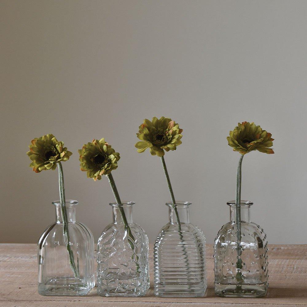 Square Bottle Vases- Set Of 4