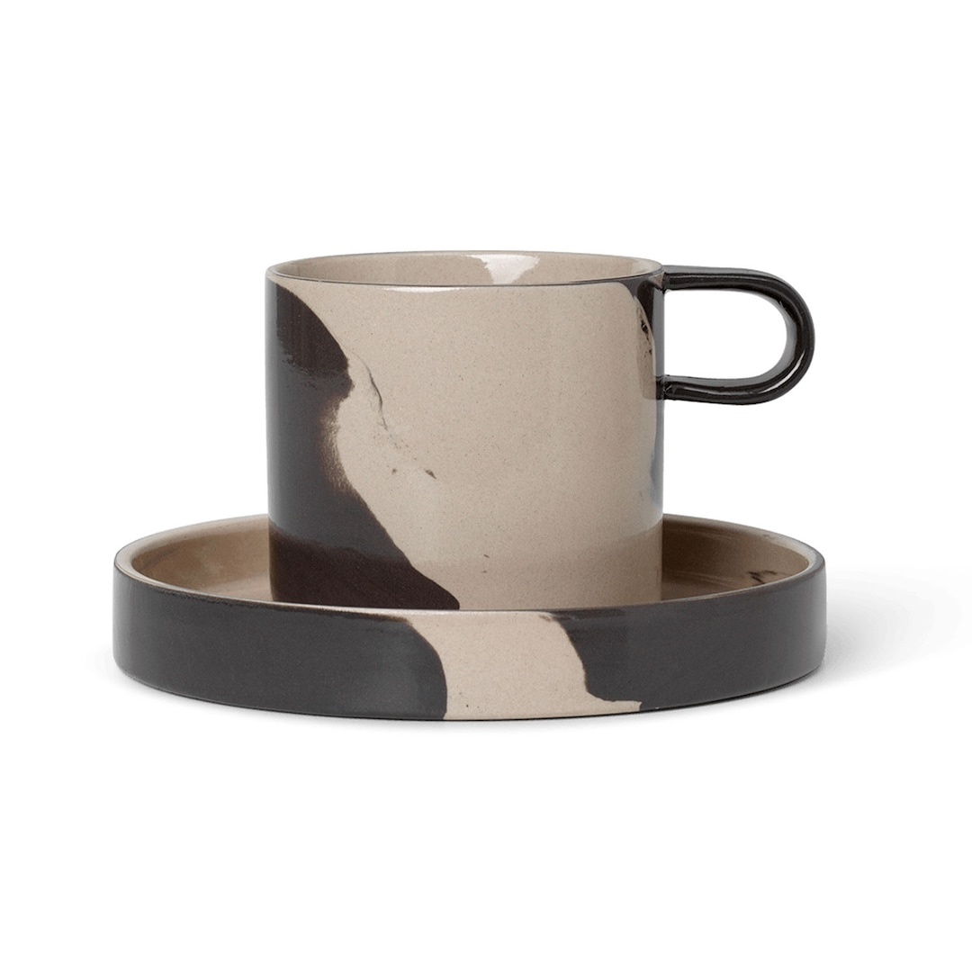 Ferm Living Inlay Cup With Saucer