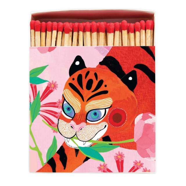 Archivist Matches- Tiger With Peony