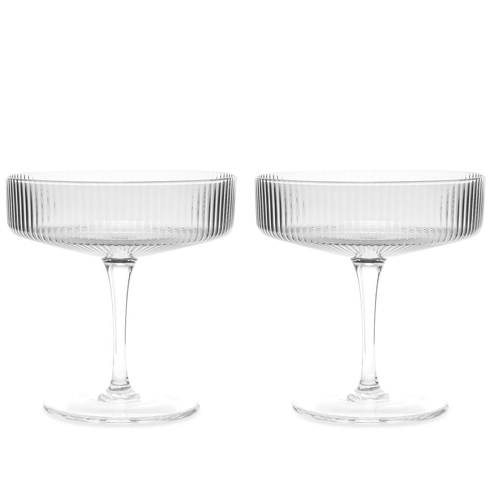 Ferm Living Ripple Champagne Saucer- Set Of 2